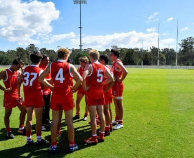 QBE Sydney Swans Academy Team Huddle