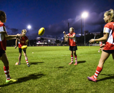 QBE Sydney Swans Academy Youth Girls Training AFL