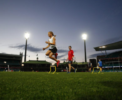 QBE Academy training for Sydney Swans